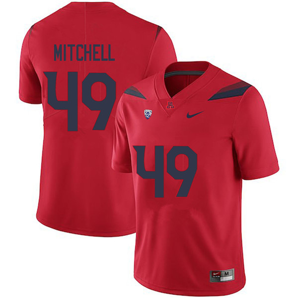 Men #49 Earl Mitchell Arizona Wildcats College Football Jerseys Sale-Red