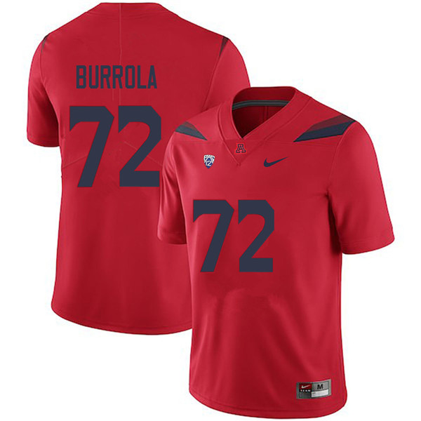 Men #72 Edgar Burrola Arizona Wildcats College Football Jerseys Sale-Red