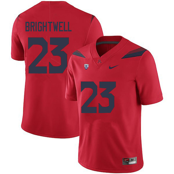 Men #23 Gary Brightwell Arizona Wildcats College Football Jerseys Sale-Red
