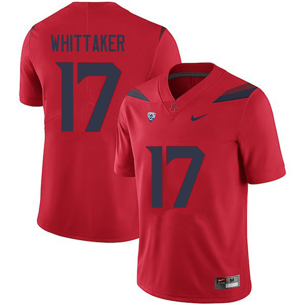 Men #17 Jace Whittaker Arizona Wildcats College Football Jerseys Sale-Red
