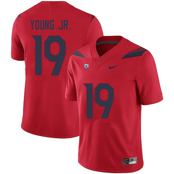 Men #19 Scottie Young Jr. Arizona Wildcats College Football Jerseys Sale-Red