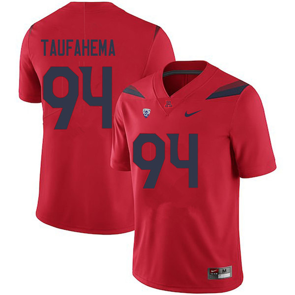Men #94 Sione Taufahema Arizona Wildcats College Football Jerseys Sale-Red
