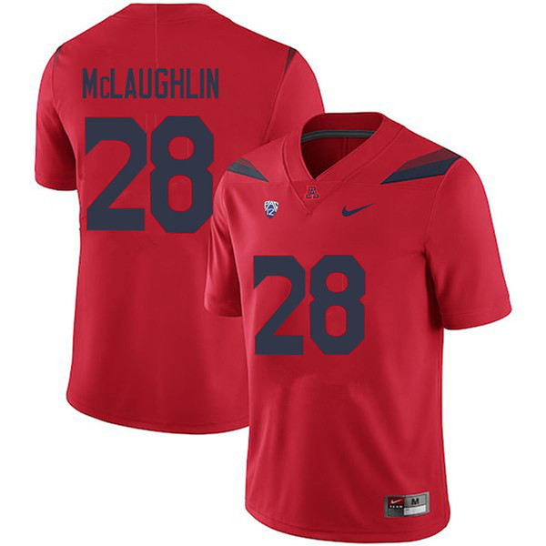 Men #28 Steve McLaughlin Arizona Wildcats College Football Jerseys Sale-Red