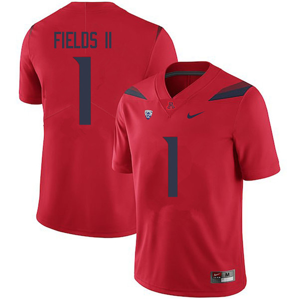 Men #1 Tony Fields II Arizona Wildcats College Football Jerseys Sale-Red
