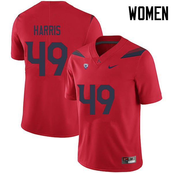 Women #49 Jalen Harris Arizona Wildcats College Football Jerseys Sale-Red
