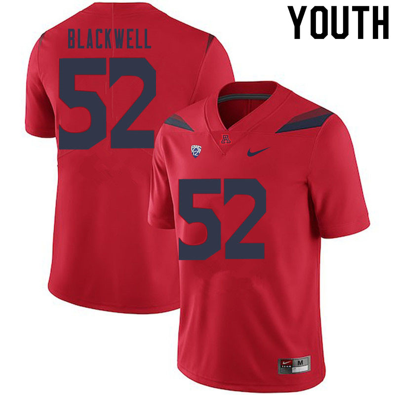Youth #52 Aaron Blackwell Arizona Wildcats College Football Jerseys Sale-Red