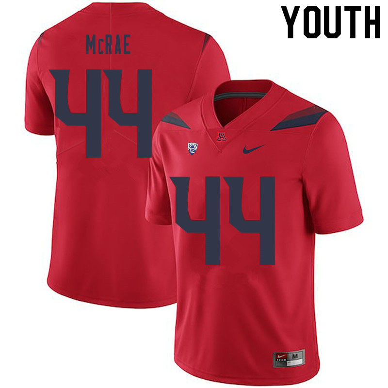Youth #44 Calib McRae Arizona Wildcats College Football Jerseys Sale-Red
