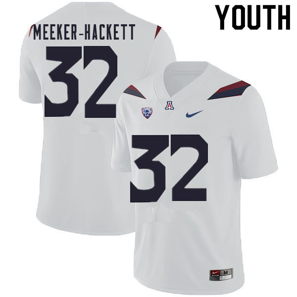 Youth #32 Jacob Meeker-Hackett Arizona Wildcats College Football Jerseys Sale-White