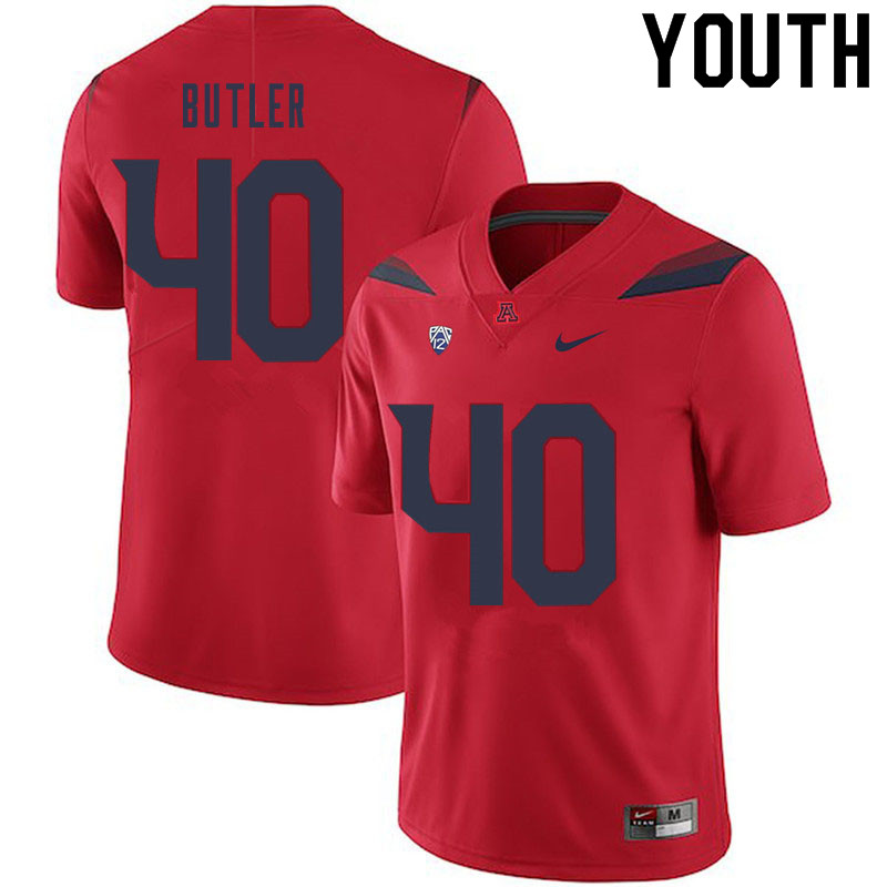 Youth #40 Jashon Butler Arizona Wildcats College Football Jerseys Sale-Red