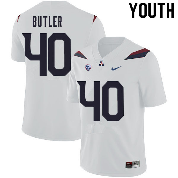 Youth #40 Jashon Butler Arizona Wildcats College Football Jerseys Sale-White