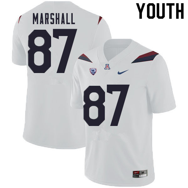 Youth #87 Stacey Marshall Arizona Wildcats College Football Jerseys Sale-White