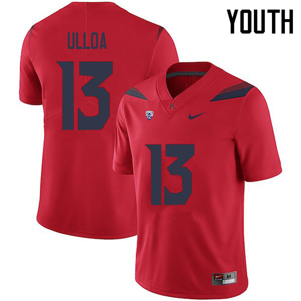 Youth #13 Chacho Ulloa Arizona Wildcats College Football Jerseys Sale-Red