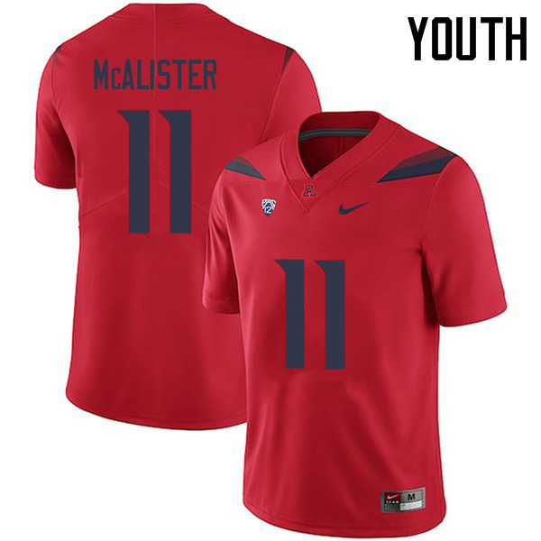 Youth #11 Chris McAlister Arizona Wildcats College Football Jerseys Sale-Red