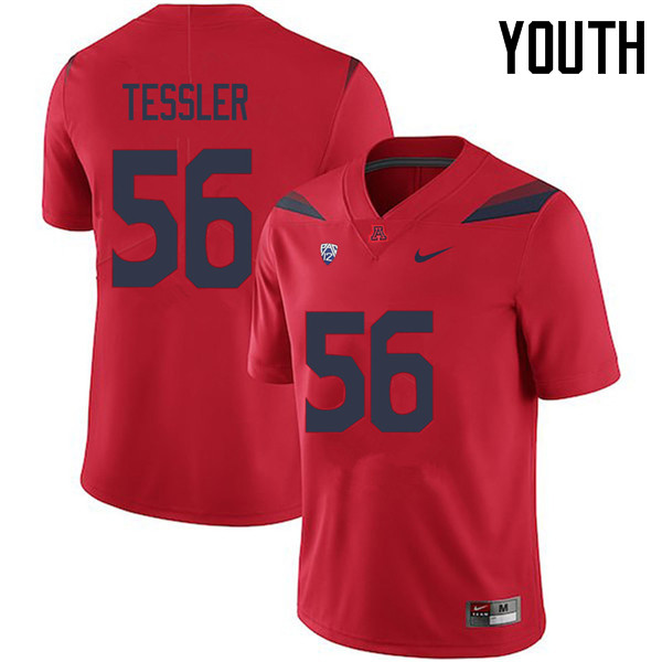 Youth #56 Rexx Tessler Arizona Wildcats College Football Jerseys Sale-Red